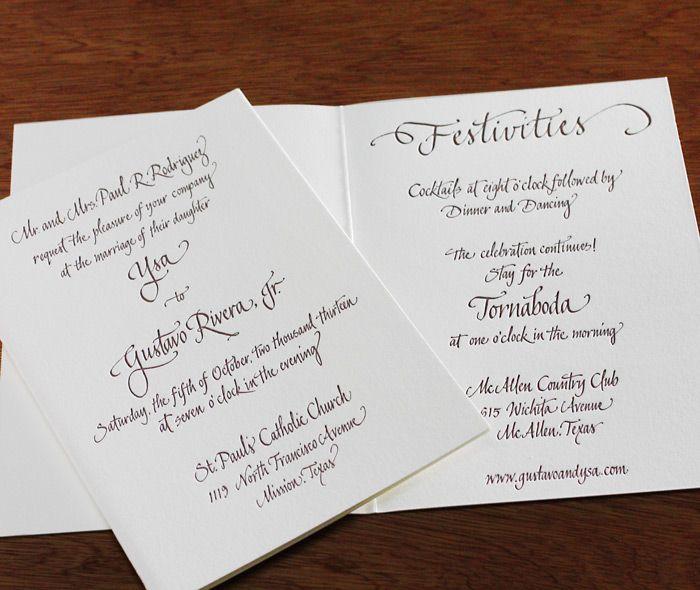 Hand calligraphy letterpress #wedding #invitation design Liza.    Invitations by Ajalon   http://invitationsbyajalon.com/