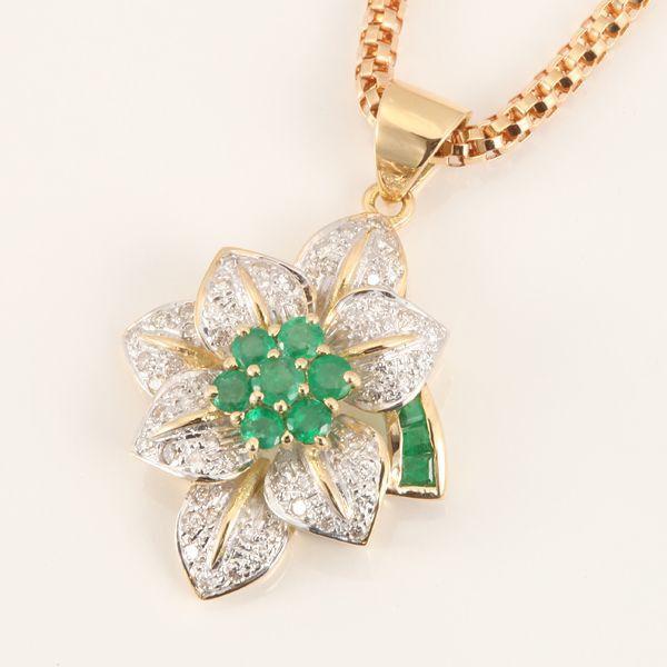 【中古】K18 エメラルド ネックレス/新品同様・極美品・美品の中古ブランド時計を格安で提供いたします。