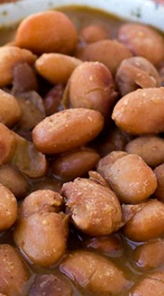 Slow Cooker Mexican Pinto Beans.