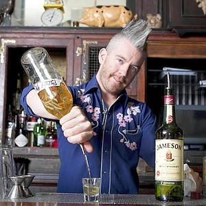 The Pickleback!!  Breslin bartender T.J. Lynch keeps pickle juice on hand as a chaser to a shot of straight whiskey.