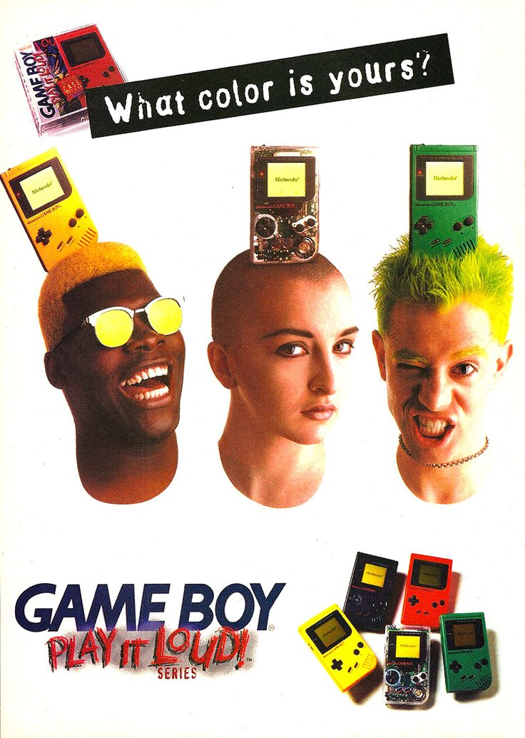 """""""What color is yours?"""" for the Nintendo Gameboy - You think this made someone go out and buy one?"""