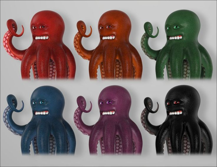 OTTO - The Mad Octopus   3D Models and 3D Software by Daz 3D