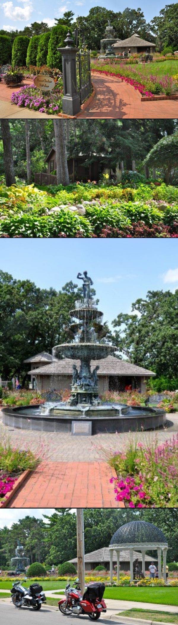 Munsinger & Clemens Gardens- St Cloud MN/on the banks of the Mississippi across from SCSU-formal gardens on higher ground;informal woodland/shade gardens on the slopes, closer to the water. Lovely place to take a stroll or spread a blanket--free admission