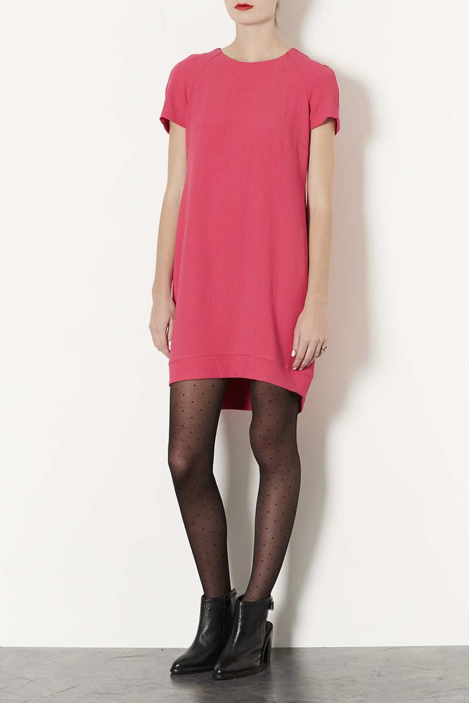 WOMENS / LADES TOPSHOP PINK CREPE DRESS BNWOT SIZE 10 RRP £38