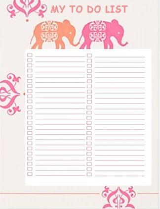 My to do list...its one of the templates that I have designed for my own personal diary...I write lists for everything