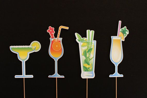 Photobooth Props  Tropical Drinks Photo Booth by LittleRetreats, $20.00