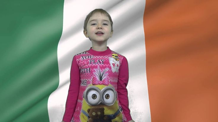 5 years old Russian Girl Kira will sing Ireland National Hymn Amhrán na ...