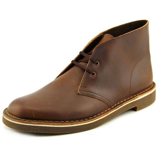 Clarks Clarks Bushacre 2 Men Round Toe Leather Brown Chukka Boot (£52) ❤ liked on Polyvore featuring men's fashion, men's shoes, men's boots, brown, shoes, mens leather boots, mens brown leather shoes, clarks mens shoes, mens round toe cowboy boots and mens brown chukka boots