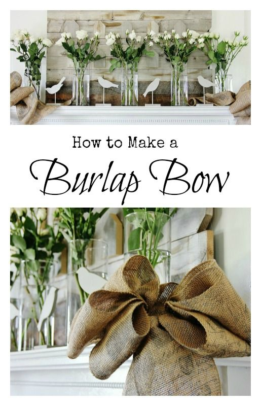 How to make a burlap bow perfect for weddings mantels or an easy