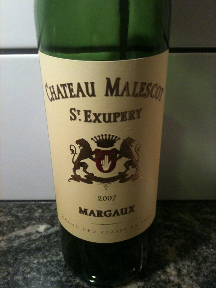The '86 wine that made me interested in wine. Chateau Malescot St.Exupery Margaux. The '07 was good but not that good.