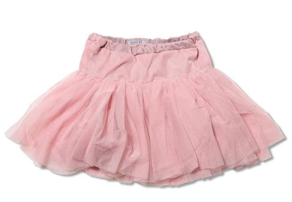 Bunnies Picnic - Wheat Tutu Skirt with Adjustable Waist in Dusty Rose for Girls - Boutique Clothing for Girls and Boys