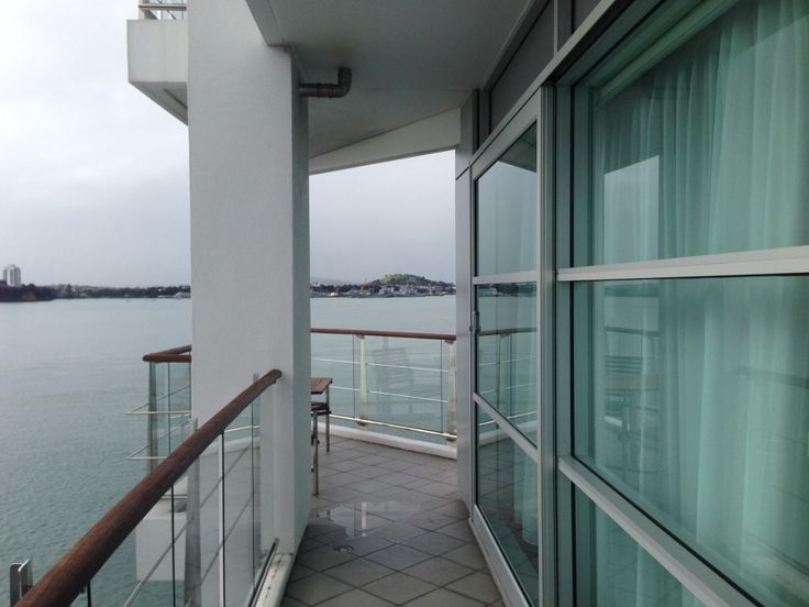 Bow Suite Balcony at the Hilton Auckland, New Zealand
