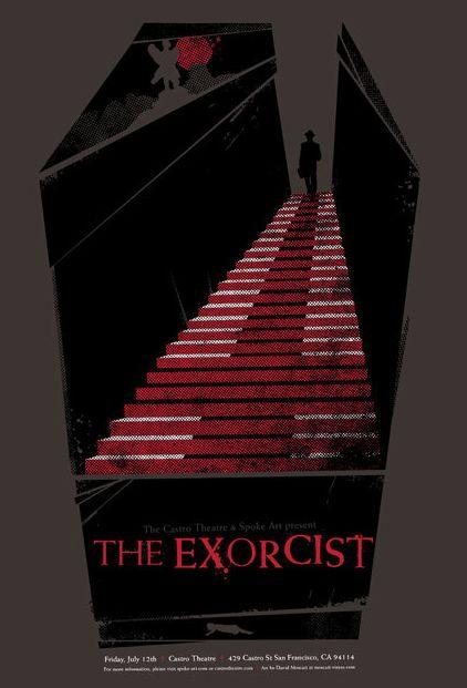 The Exorcist (1973) ~ Minimal Movie Poster by David Moscati #amusementphile