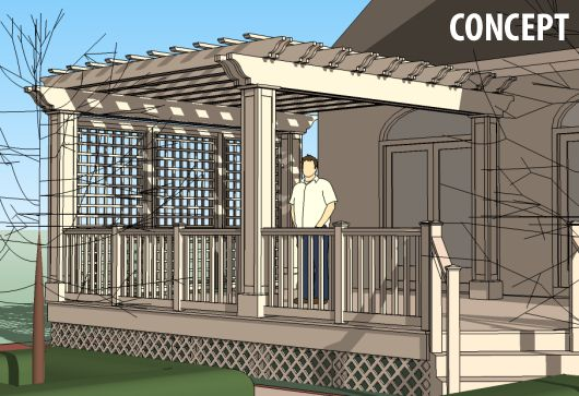 ... budget and provided a beautiful, usable new back deck. The final design sailed through the Homeowner's Association review and we began construction.