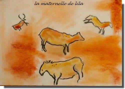 dessins comme à Lascaux - la maternelle de lila