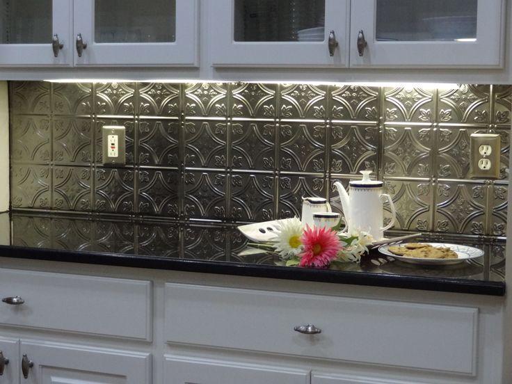 75 best images about tin backsplashes on pinterest for Easy diy kitchen backsplash ideas