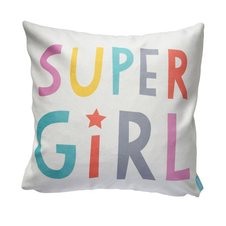 This soft and fuzzy accent pillow is great for the super girl in your life! Made from a super soft velveteen you won't be able to stop snuggling and practical polyester to endure as much abuse as your