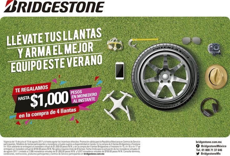 #OutletllantasCoyoacán #Promoción #Monederos #llantas #Bridgestone #Firestone