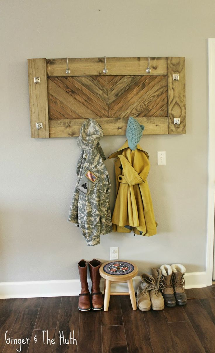 DIY Chevron Wall Coat Rack Using Scrap Wood Ginger & The