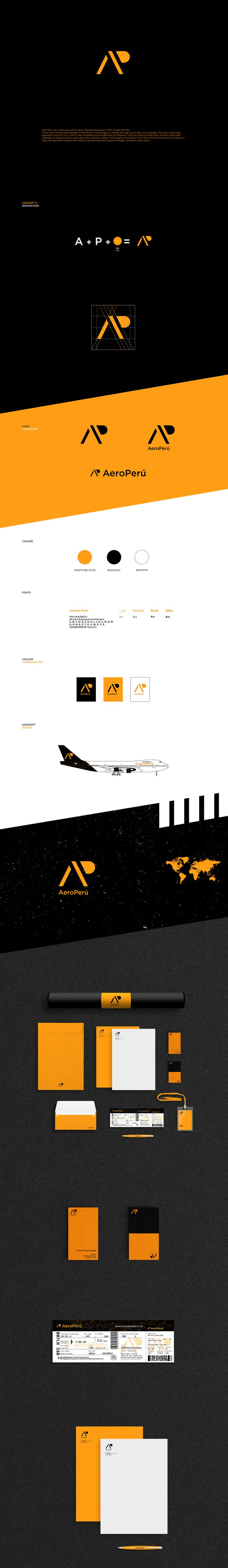 AeroPerú- Branding on Behance Airline branding design inspiration