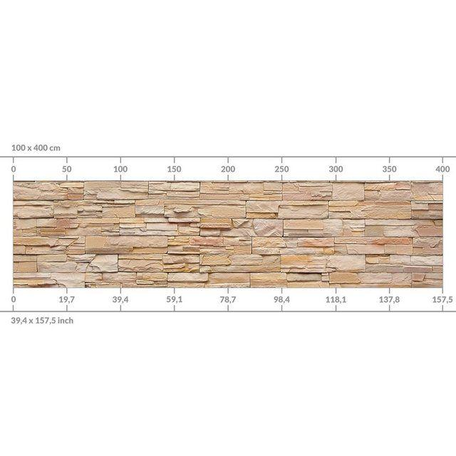 Küchenrückwand »Asian Stonewall Steinmauer aus wohnlichen Steinen« #kinderzimmer