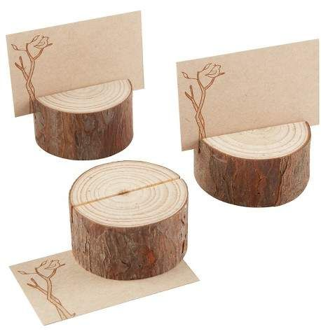 Kate Aspen 12ct Kate Aspen Rustic Real-Wood Place Card/Photo Holder. | reception place card holder | rustic place card holder | natural wedding | wedding inspiration
