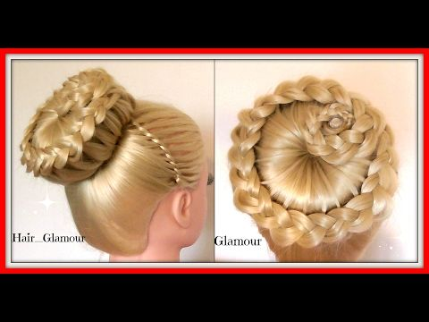 BASKET CROWN BUN HAIRSTYLE / HairGlamour Styles / Braids Hair Tutorial - YouTube