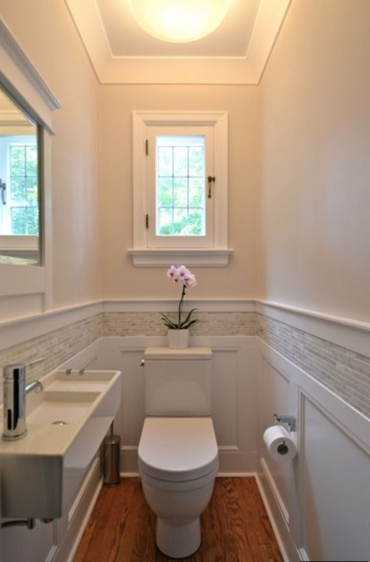 """window, wainscoting with marble or stone with wide border, color combo, add large format (18"""" x 36"""") light gray floor tile to coordinate with the backsplash and walls"""