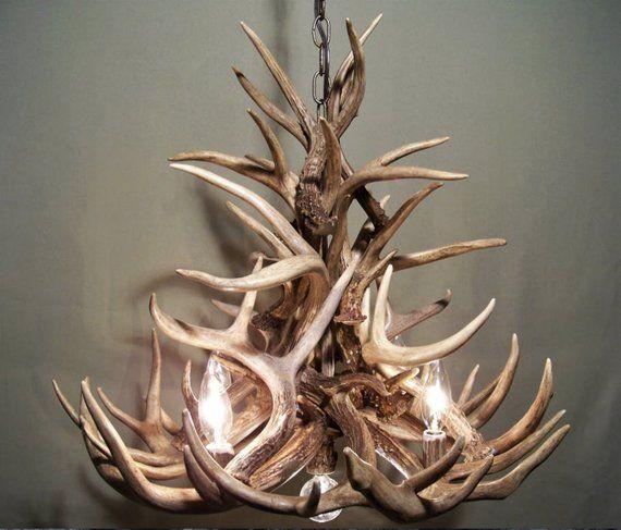 Real Antler Chandelier Rustic Pendant Chandelier Deer Chandelier
