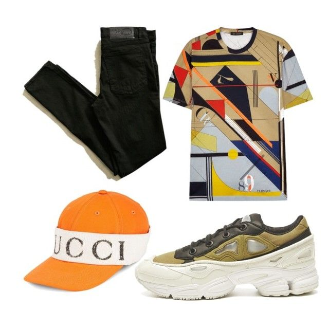 Street style by tymarahshand on Polyvore featuring polyvore, Versace, Cheap Monday, Raf Simons, Gucci, men's fashion, menswear and clothing