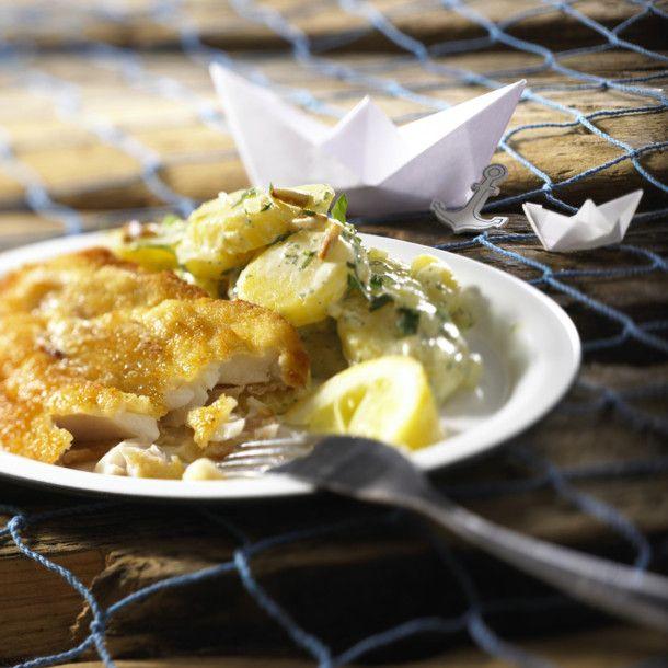 bratfisch mit kartoffelsalat rezept rezept kartoffelsalat fisch braten und rezepte. Black Bedroom Furniture Sets. Home Design Ideas