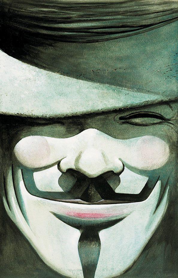 V de Vingança – Ed. Vertigo. Arte por DAVID LLOYD.