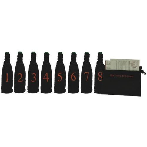 The Blind Wine Tasting Kit Includes Eight Wine Bottle