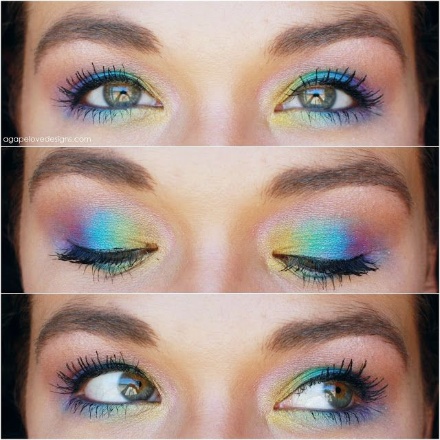 Agape Love Designs: Rainbow Fish EOTD Urban Decay Deluxe Palette