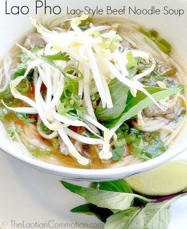 {TheLaotianCommotion.com} Lao Pho Lao-style beef noodle soup