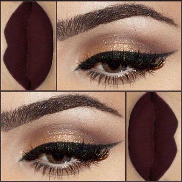 """""""Gorgeous eyes and lips @makeupbydola #vegas_nay"""""""