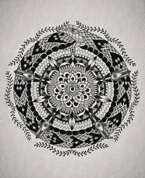 Ouroboros mandala design