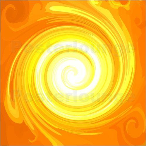 Die grosse SONNEN-ENERGIE-SPIRALE Nr. 02: Poster & Kunstdruck von Ramon Labusch, Energy-ART-Designer und Energie-Künstler