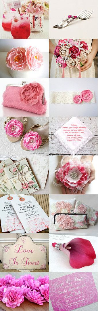 Pink Wedding Details by blueorchidcreations on Etsy--Pinned with TreasuryPin.com