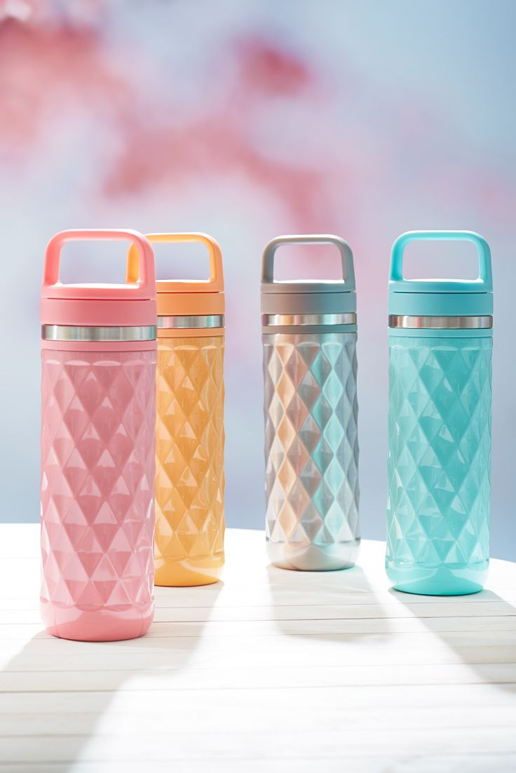 Keep your tea extra hot with these textured, leakproof travel mugs in creamy spring colours.