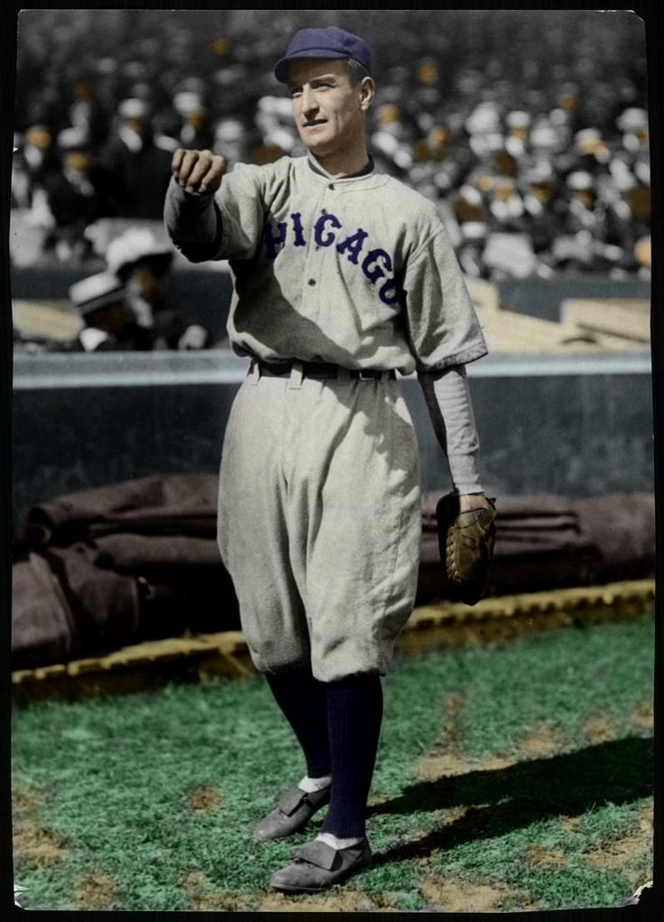 Jimmy Archer Chicago Cubs (colorized) Chicago cubs