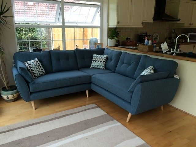 Looks Fab In Our Kitchen In 2020 Blue Corner Sofas Living Room Grey Home Living Room