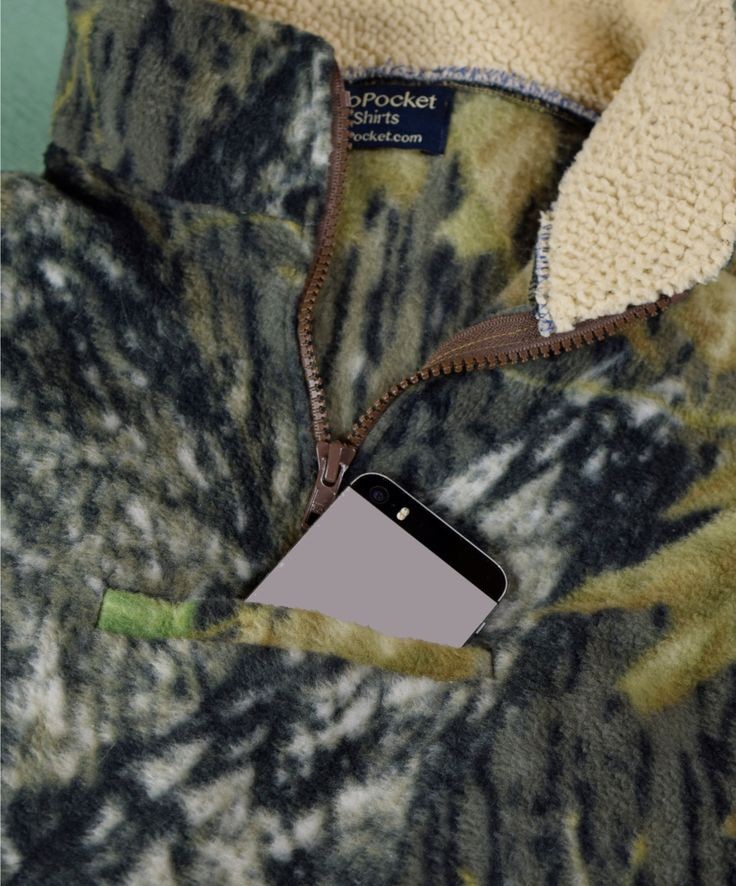 Camo Fleece Pullover by TooPocketShirts on Etsy
