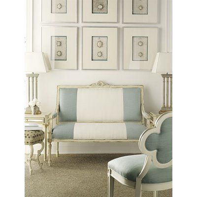 pale blue interior: Living Rooms, Chairs, Blue, Color, Interiors Design, Wide Stripes, Sit Rooms, Studios Couch,  Day Beds