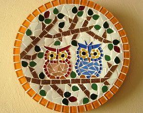 Prato de parede Corujas *25 cm