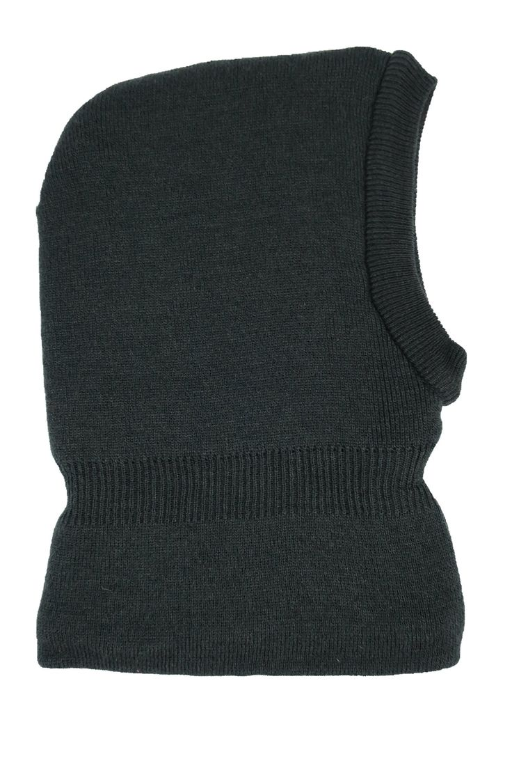 N'Ice Caps Kids Unisex Soft Sherpa Lined Knitted Balaclava Headwear (2-3 Years, Black). Soft and bulky sherpa lining for added warmth and comfort. Multi layered knitted construction to keep your child warm in cold weather. Long in front and back to cover chin and neck; shoulder overlap curved collar. Elastic above neck for comfortable fit. Designed in the USA by N'Ice Caps.