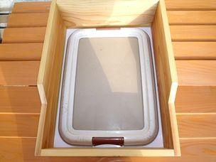 犬 トイレシートのカバー トイレのトレーを囲う箱を作りました。部屋に置くものとして製作しました。 サイズ ・市販のレギュラーサイズのトレーが入ります。内寸37.5cm x 49,5cm 部屋が汚れない。 ・トレーよりオシ …