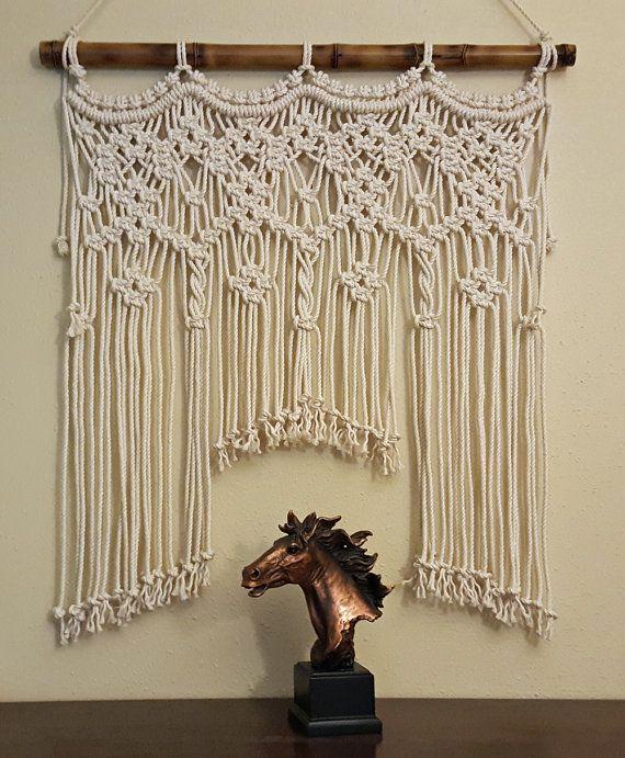 "Macrame Wall Hanging Window/Console/Headboard/Wedding ""Spirit"""