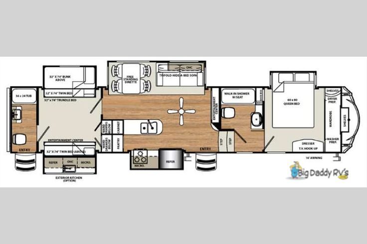 New 2016 Forest River RV Sandpiper 381RBOK Fifth Wheel at Big Daddy RVs   London, KY   #GJ032813-IN