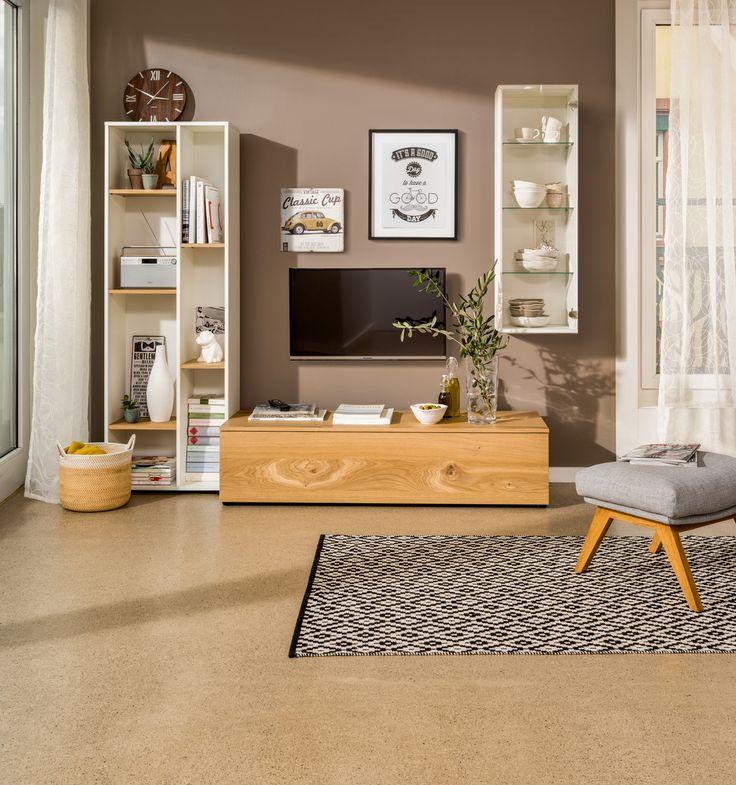 micasa wohnzimmer mit wohnsystem tell und teppich kathrin micasa wohnen pinterest teppiche. Black Bedroom Furniture Sets. Home Design Ideas